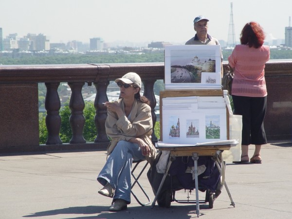 Painter Waiting for Customer  in Moscow