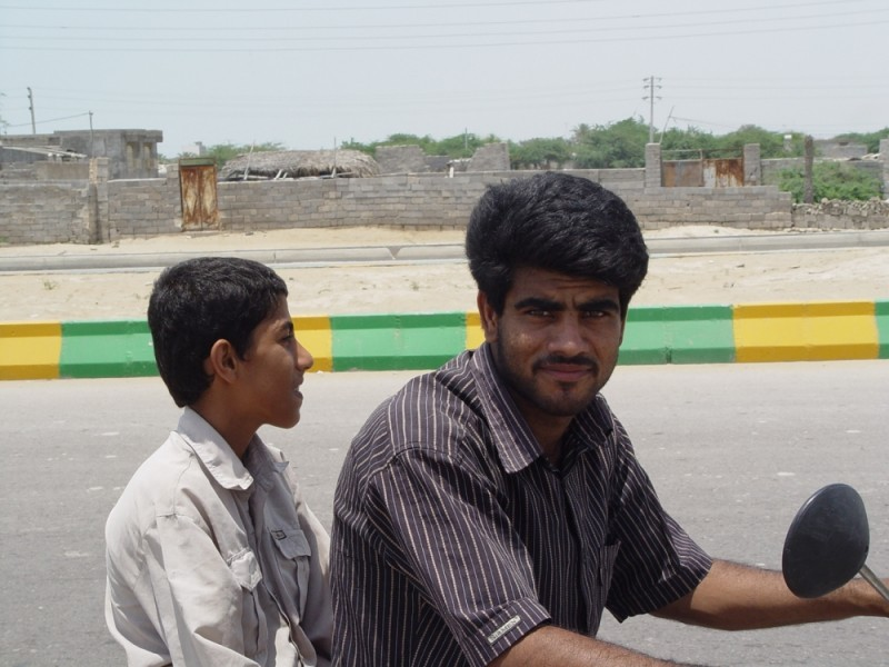 Motorcyclist in Bandar Abbas