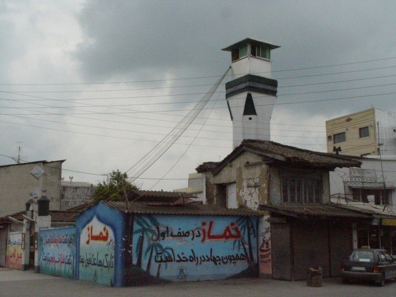 Minaret, suburb Mosque in Babolsar