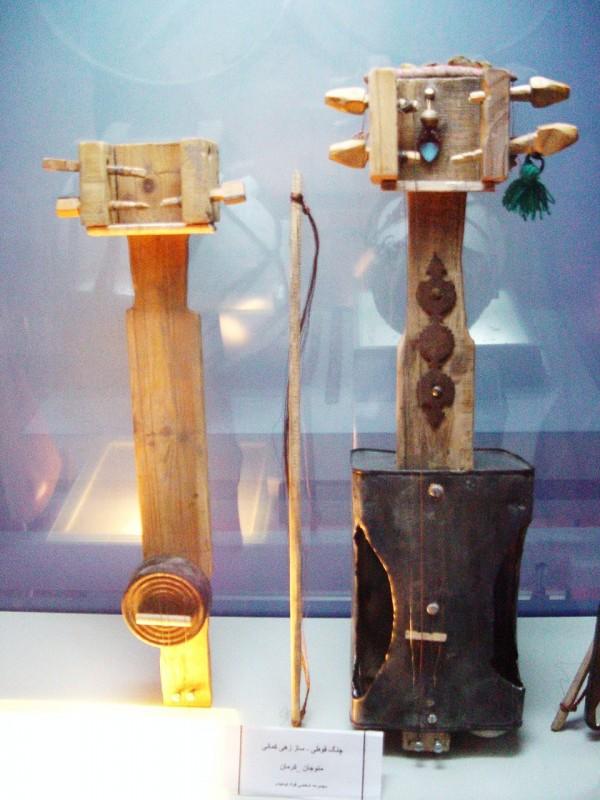 Music instruments in Harandi Museum of Kerman