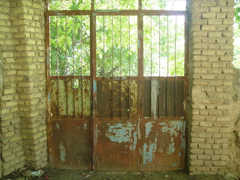 Door in Anjavan Villlage