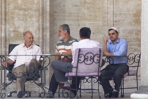 Discussion in Mosque, Istanbul, Old City
