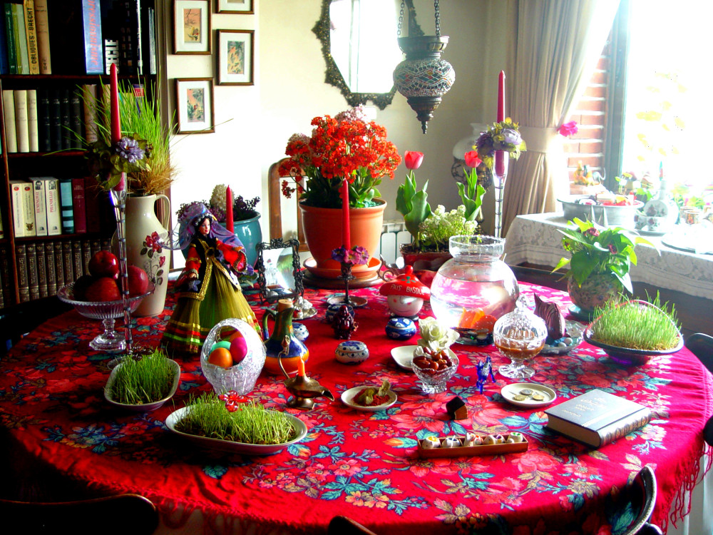 Norouz (New year Iranian) table