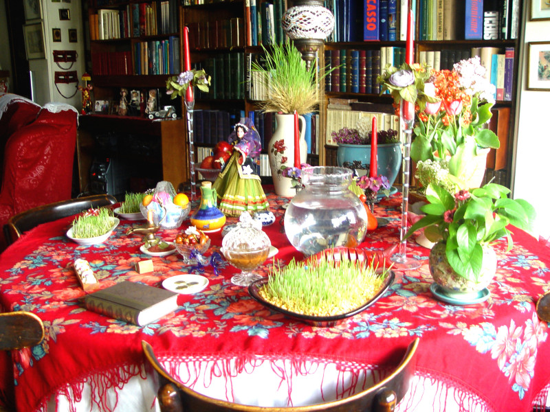 The Iranian New year table - Spring 2014