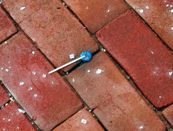 A Dropped Blue Sucker