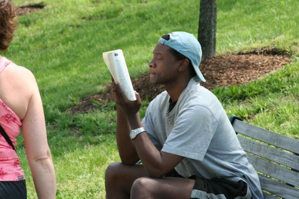 Man Reading in the Park