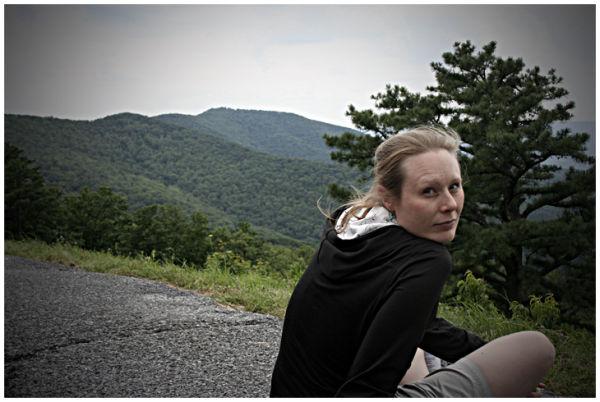 Lynette at Jeremy's Run, Shenandoah N.P.