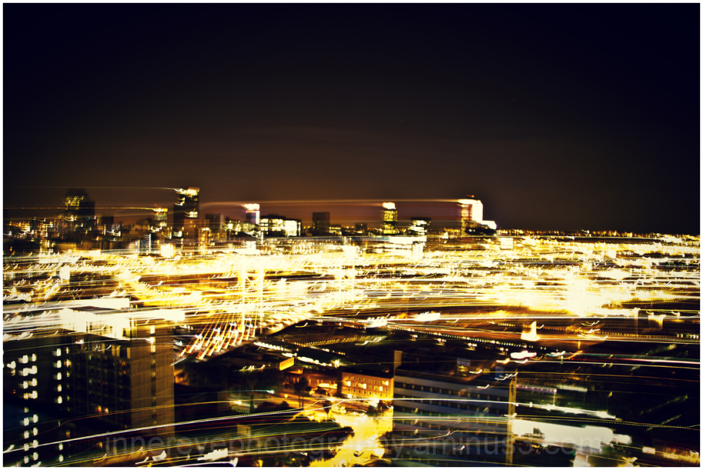 painting with light over Jozi