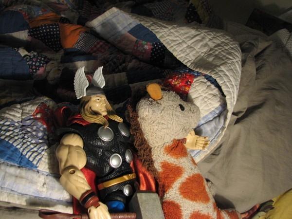 Thor and Giraffe