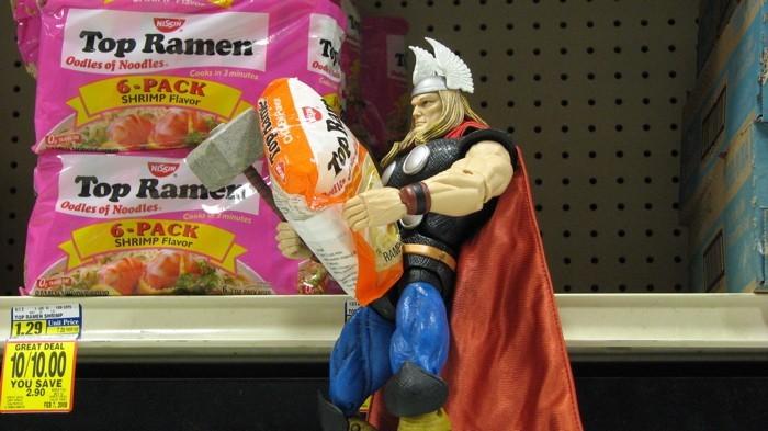 Thor buys the basics