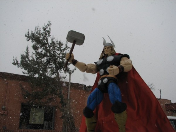 Thor in the snow
