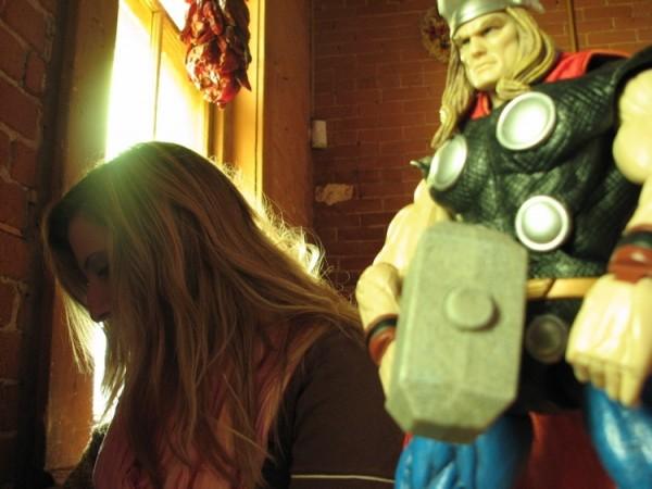 Thor and Ariana at Tomasita's