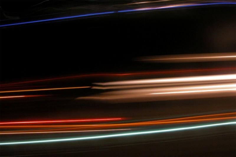 Shooting the road at night