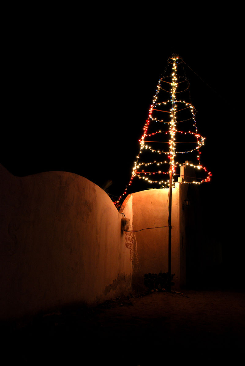 A rural view of chistmas celebration