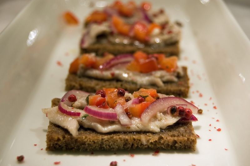 Marinated Baltic herring  as a Starter