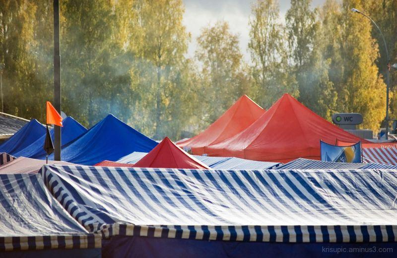Tent village?