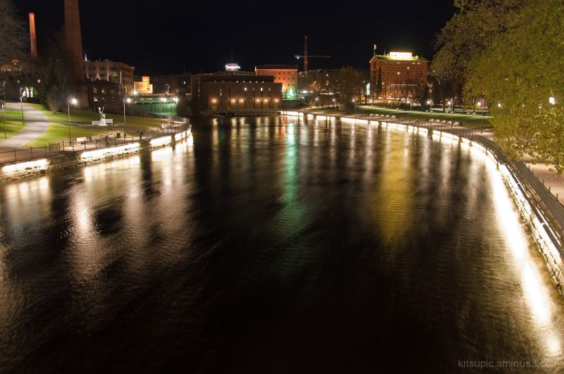Rapid Tammerkoski by night