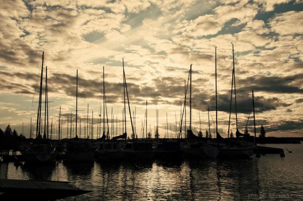 evening at harbor