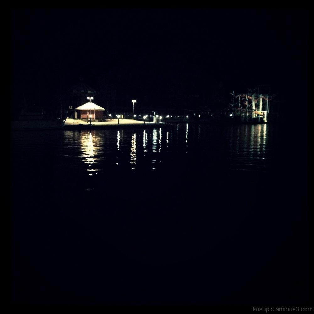 reflection at night