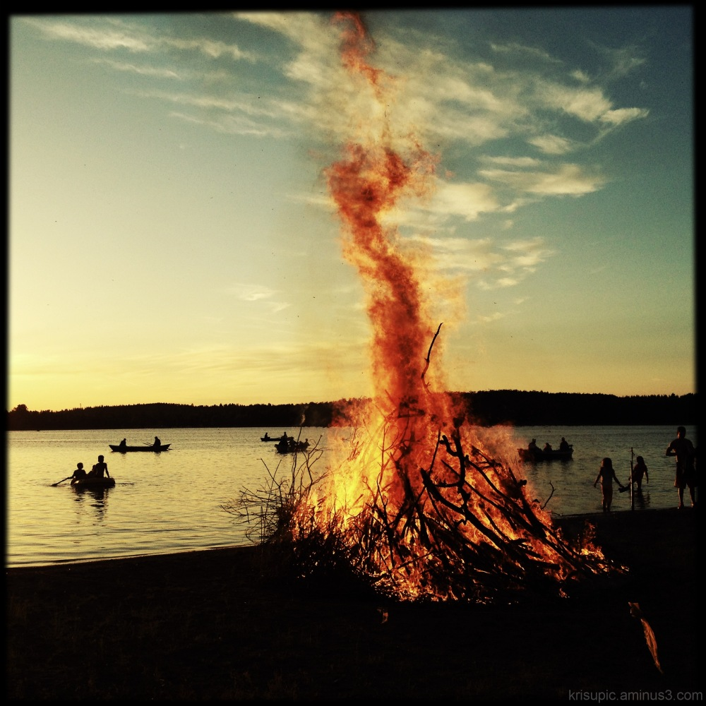 midsummer night bonfire
