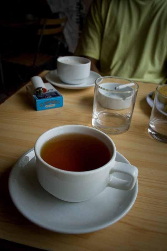 the morning tea ...