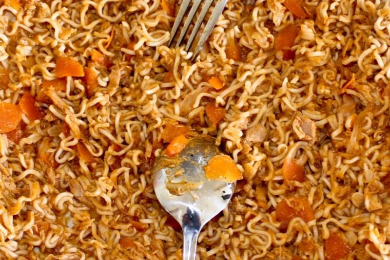 fried noodles maldivian style ...