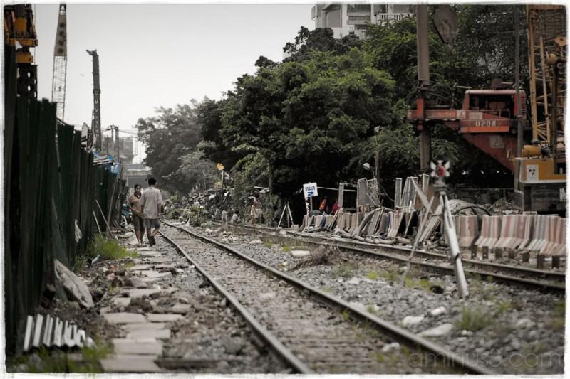 Rails of suburban line, Bangkok.