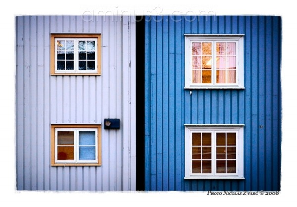 Windows and wood, Norwegian house