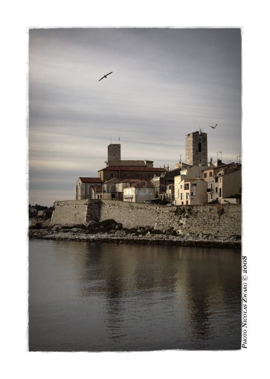 Antibes from the Cap, France.
