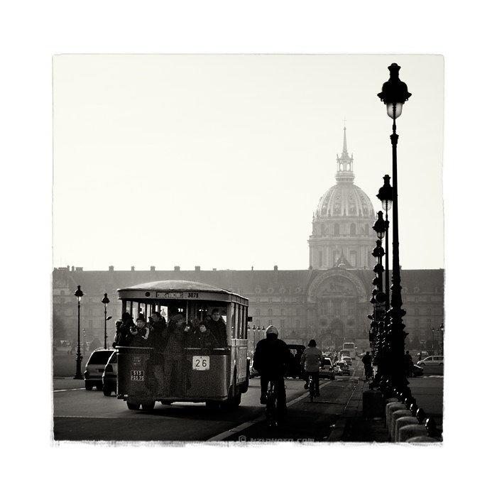Old bus in Paris, Invalides.