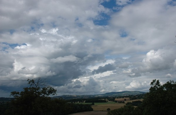 Clouds Clee Hill Shropshire