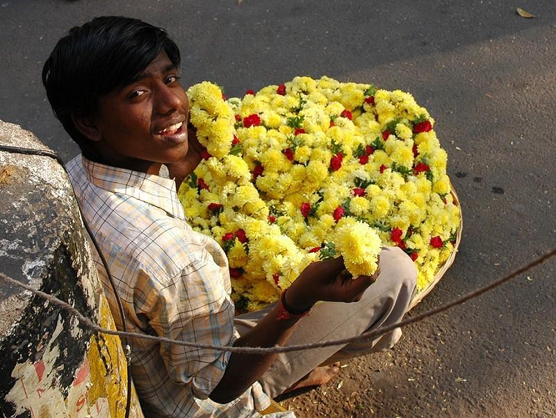 Flower Seller Bangalore Karnataka South india