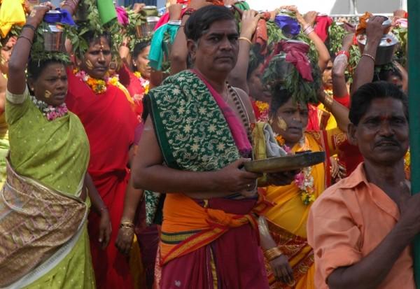 Hindu Procession somewhere in Tamil Nadu