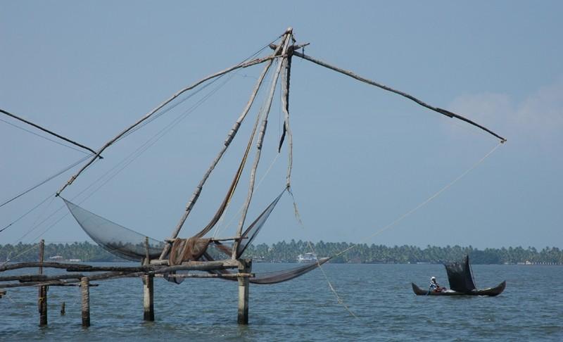 Chinese Fishing Nets Kumbalangi Kerela South India