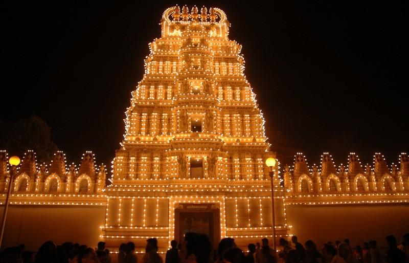 Shweta Varathswami Temple Gopuram Mysore Karnataka