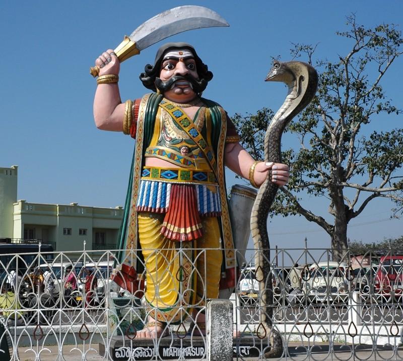 Mahishasura Demon King Chamundi Hill Karnataka