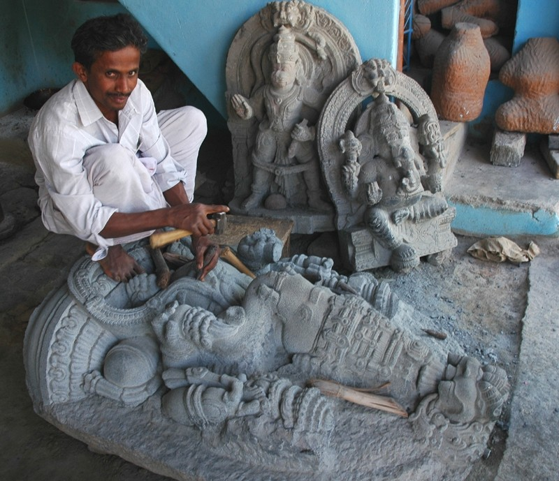 Stone Sculptor Bangalore Karnataka South India