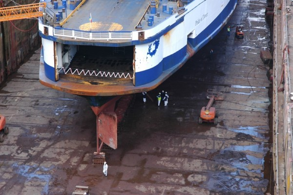 Dry Dock Falmouth Cornwall UK