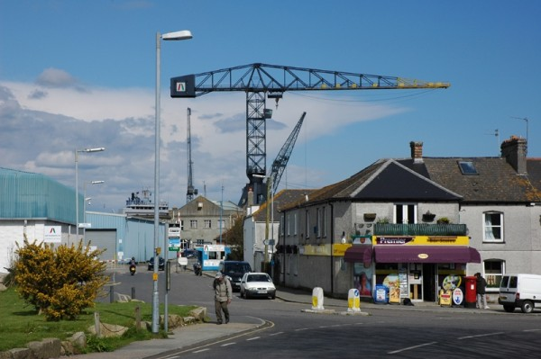 Street Crane Falmouth Docks Cornwall UK