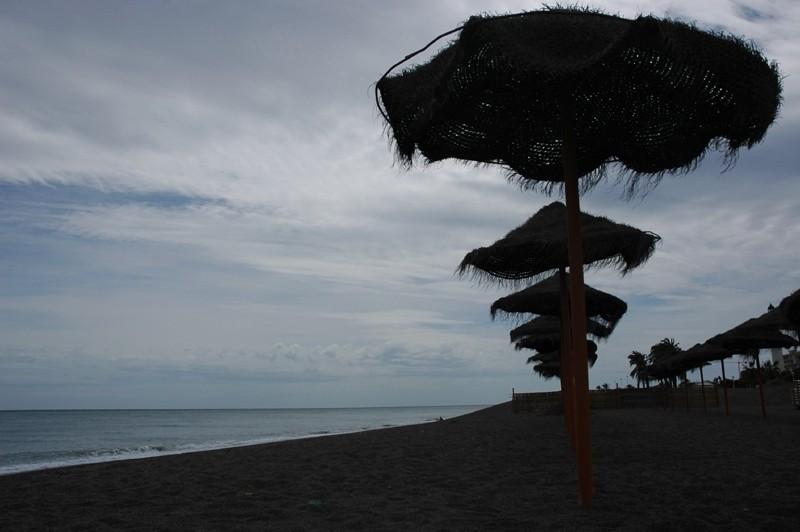 Beach rondel Torre del Mar Andalusia Spain