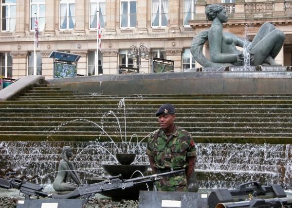 Army Victoria Square Birmingham UK