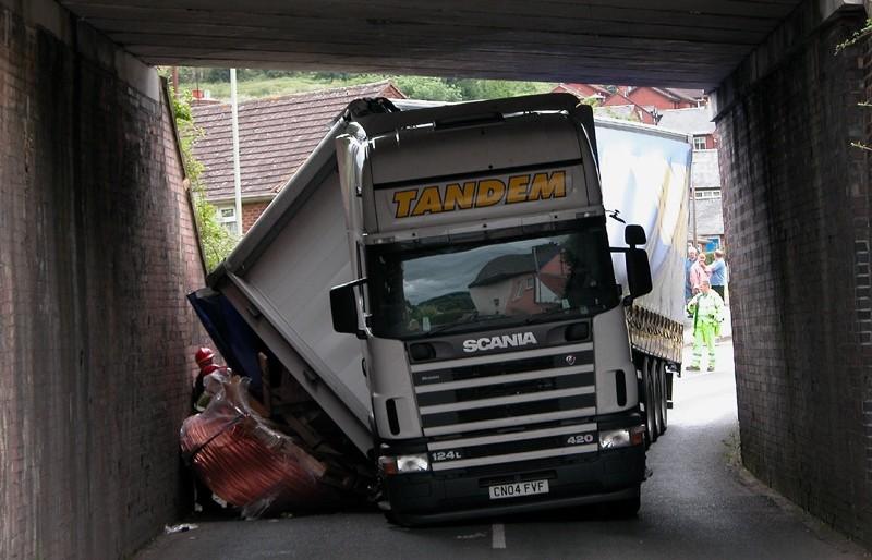Crash Lorry ludlow Shropshire UK