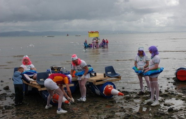 Raft Race Mumbles Gower Wales