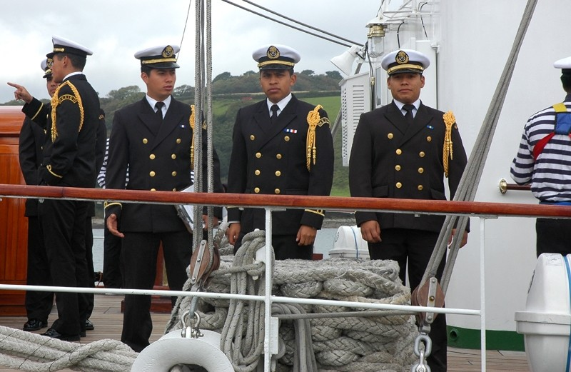 Mexican Officers Falmouth Tall Ships Cornwall UK
