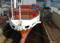 Falmouth Dry Dock Cornwall UK