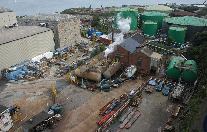 Falmouth Industry Cornwall UK