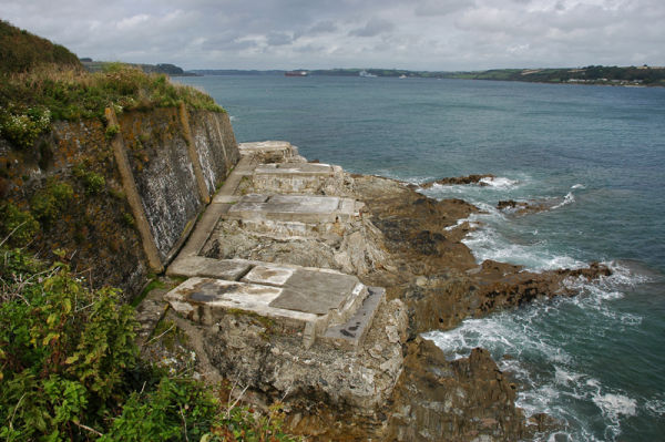 Gun Emplacements Falmouth Cornwall UK