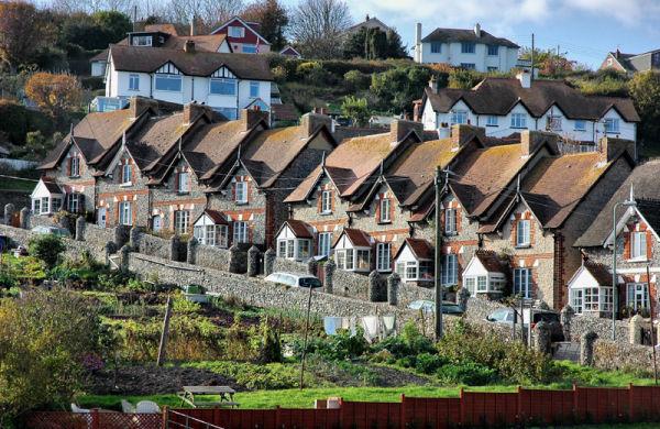 Terraced Housing Beer Dorset UK