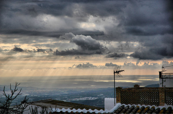 Mediterranean from Comares Axarquia Spain