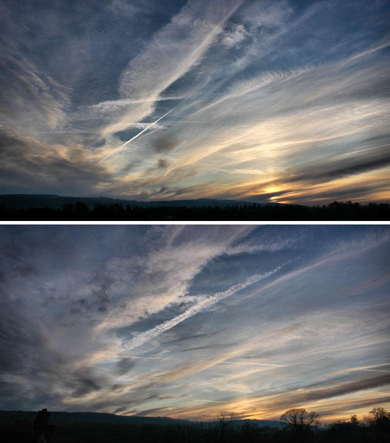 Sunset Ludlow Shropshire UK